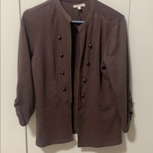 Maurices Muted Purple Military Cardigan